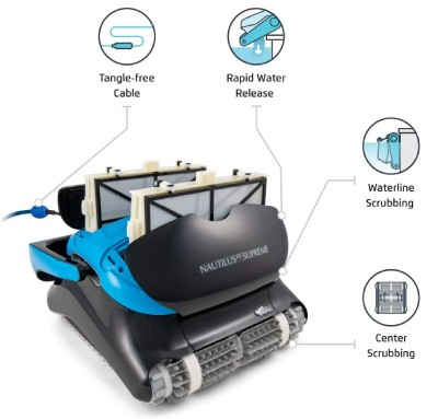 how a pool cleaner robot works