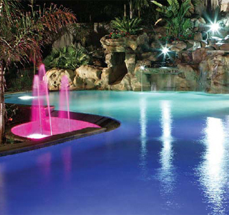 fiber optics pool lighting