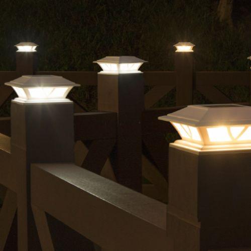 solar post cap lights