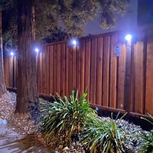 solar outdoor fence lights