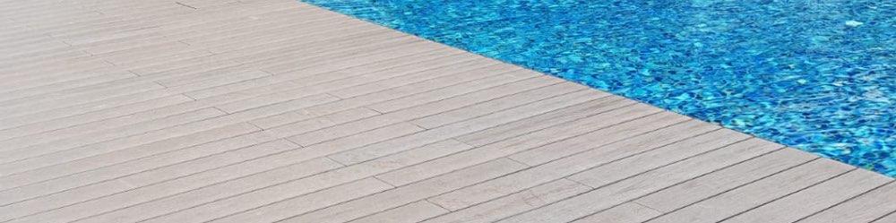 composite wood pool deck